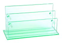 Vale Furnishers - Glass Letter Holder