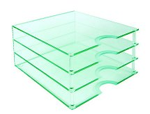 Vale Furnishers - Glass Paper Tray 