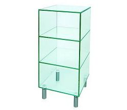Vale Furnishers - Glass Small Shelf Unit