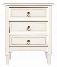 Vale Furnishers - Sussex Three Drawer Bedside