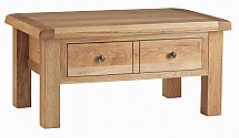 Vale Furnishers - Dorking Coffee Table with Drawers