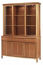 Nathan - Teak Collection Shades Display Top Unit with Glass Doors