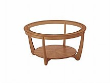 Nathan - Teak Collection Shades Round Glass Top Coffee Table
