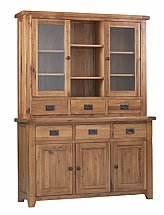 Vale Furnishers - Newport Glazed Top and 3 Door Base Unit