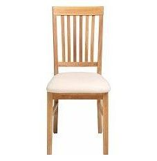 Vale Furnishers - Vale Oak Fabric Dining Chair