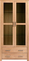 Vale Furnishers - Vale Oak Display Cabinet
