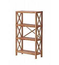 Vale Furnishers - Vale Oak Four Shelf Unit