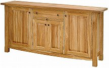 Vale Furnishers - Bordeaux Three Door Sideboard &#40;40mm Top&#41;