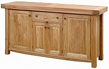 Vale Furnishers - Bordeaux Three Door Sideboard (70mm Top)