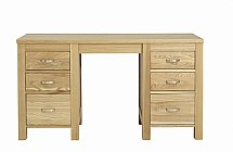 Vale Furnishers - Truro Double Pedestal Dressing Table