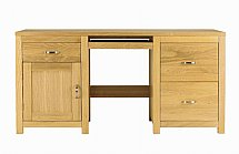 Vale Furnishers - Truro Twin Pedestal Computer Desk