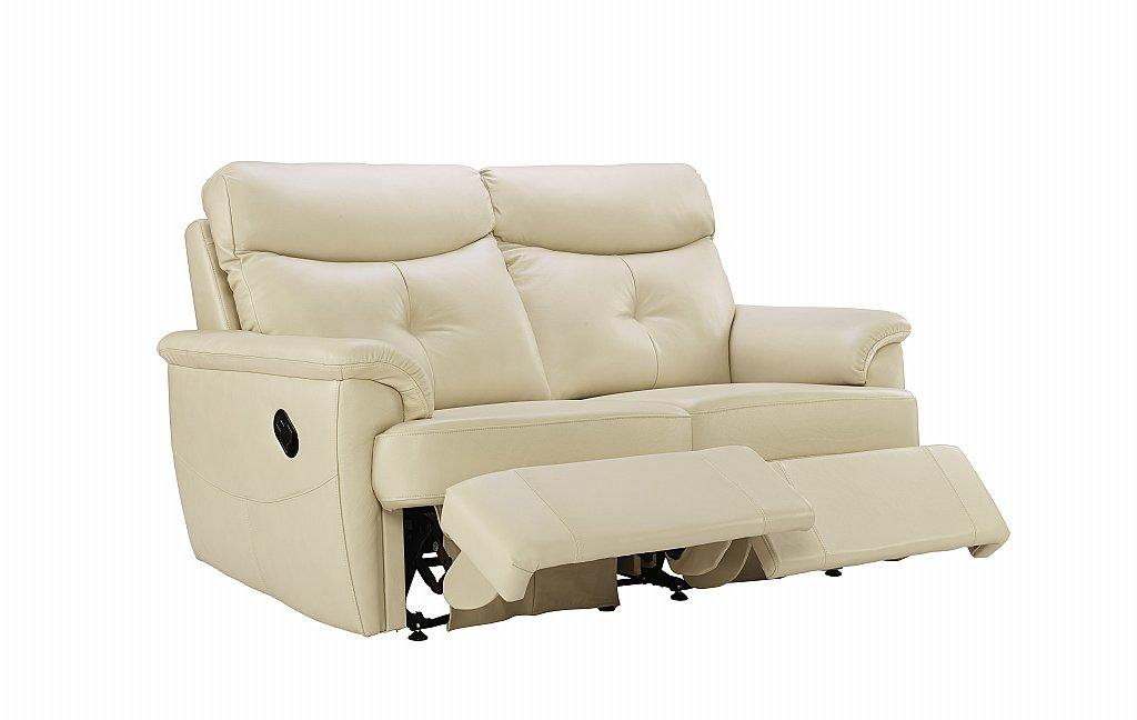 G Plan Upholstery Atlanta 2 Seater Leather Recliner Sofa