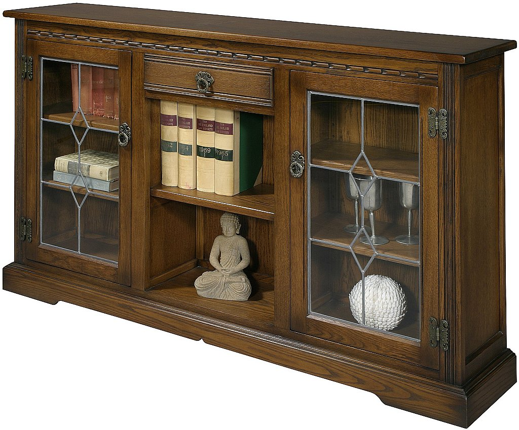 Low Bookcases With Doors: Low Bookcase With Glass Doors