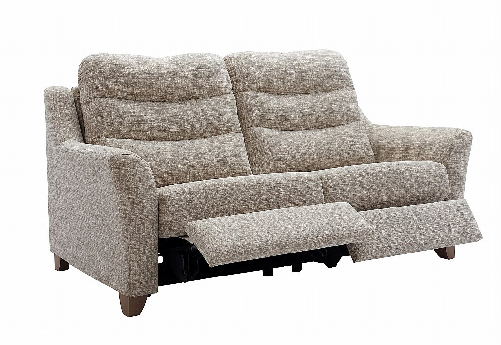 G Plan Upholstery Tate 3 Seater Leather Recliner Sofa