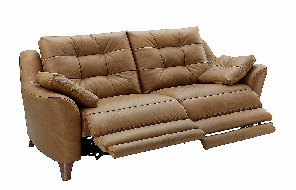 G Plan Upholstery Pip 2 Seater Leather Recliner Sofa