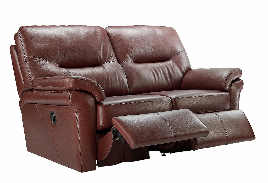 G Plan Upholstery Washington 2 Seater Leather Recliner Sofa