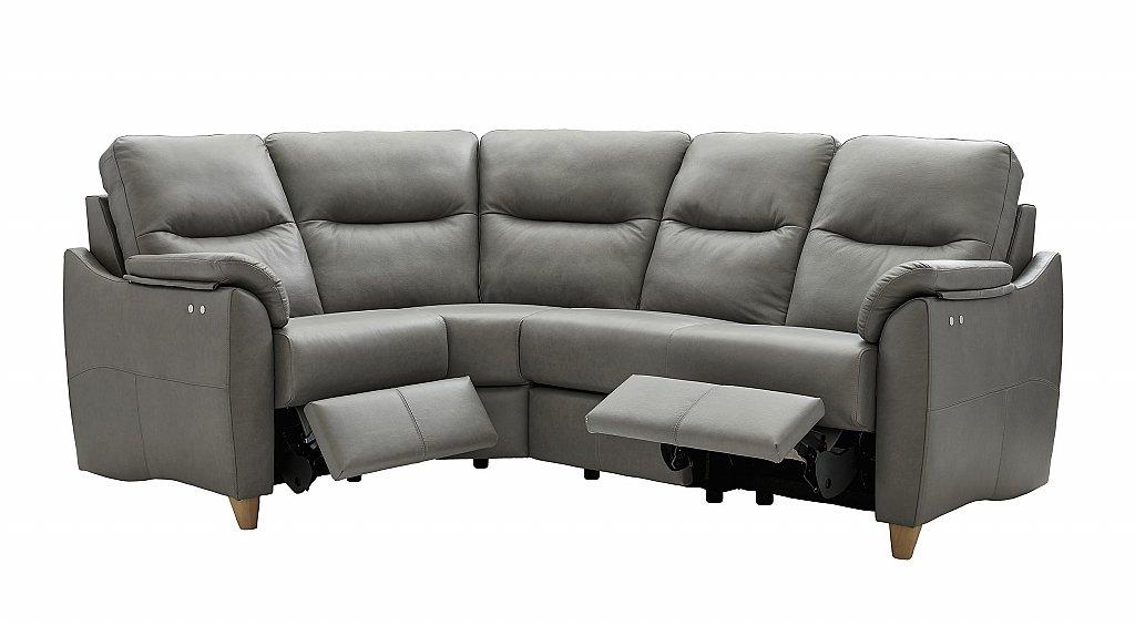 G Plan Upholstery Spencer Leather Recliner Corner Sofa
