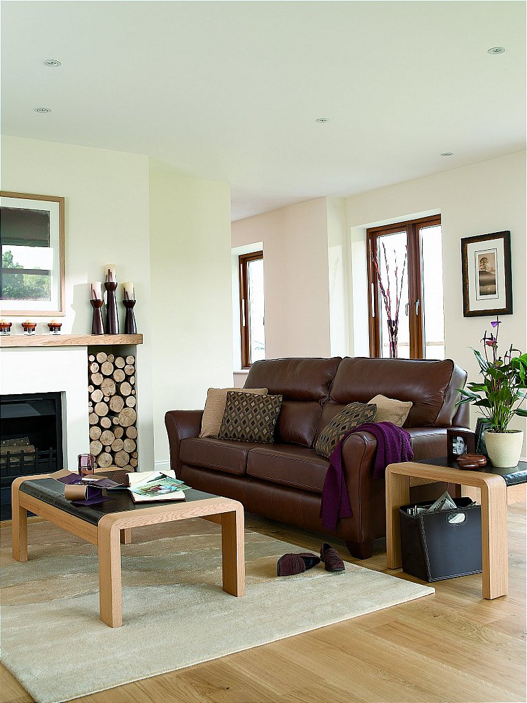 G Plan Upholstery Gemma Leather Sofa