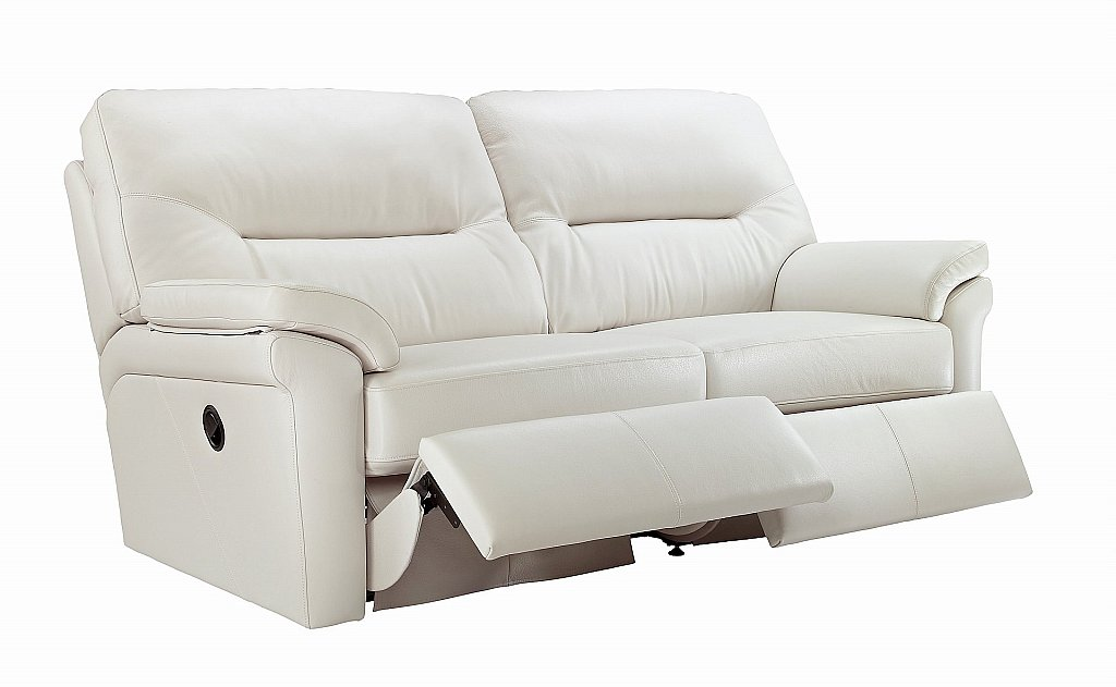 G Plan Upholstery Washington 3 Seater Leather Recliner Sofa
