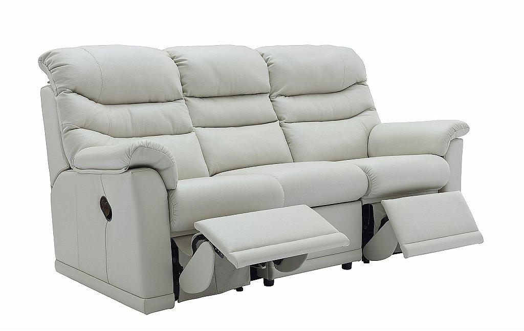 G Plan Upholstery Malvern 3 Seater Leather Reclining Sofa