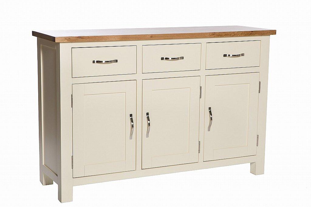 Sturtons St Remy 3 Door 3 Drawer Sideboard Ivory