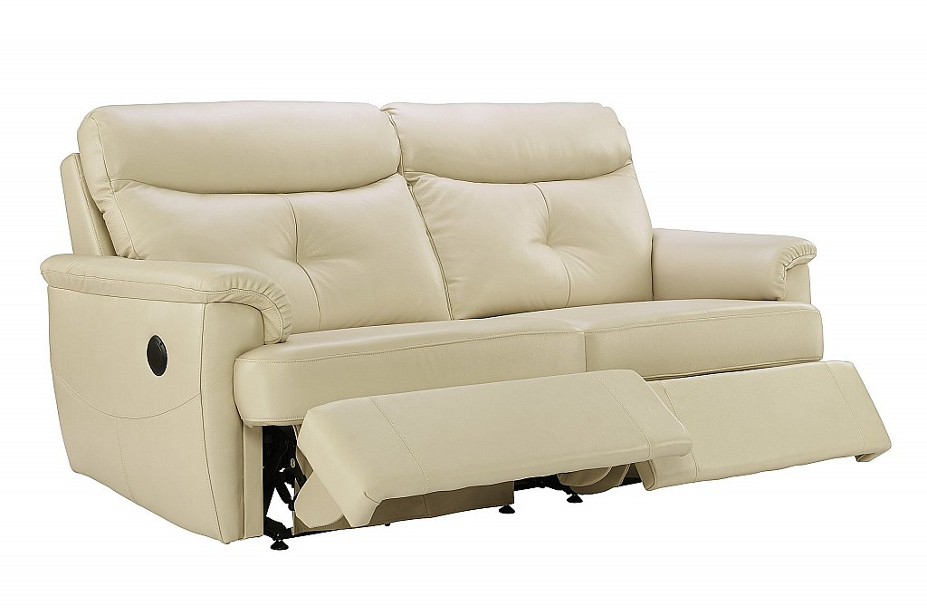 G Plan Upholstery Atlanta 3 Seater Leather Recliner Sofa