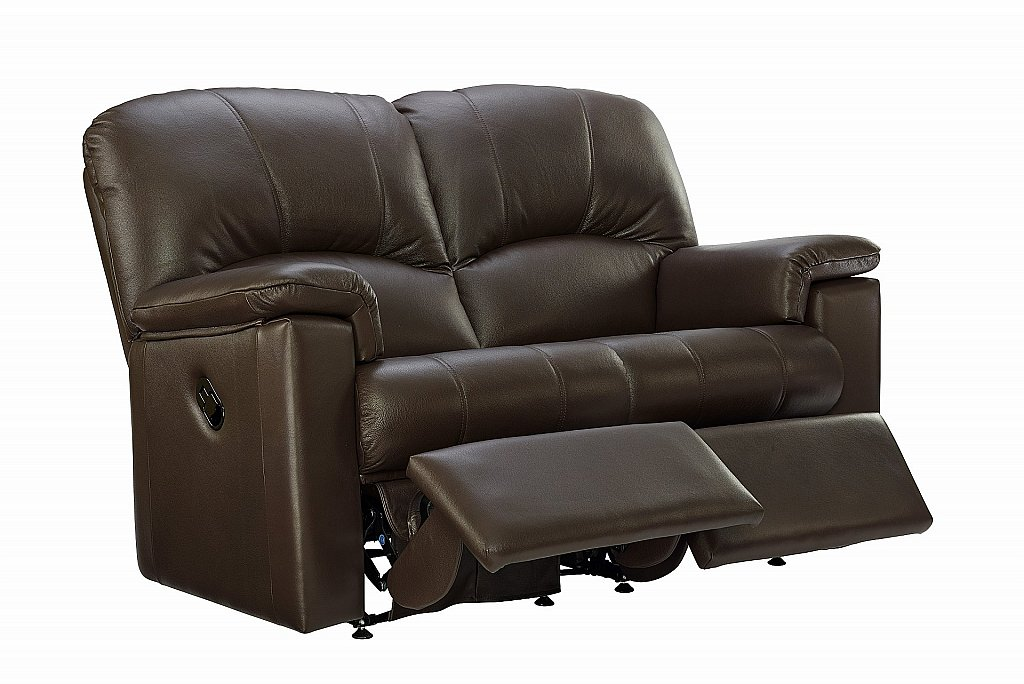 G Plan Upholstery Chloe 2 Seater Leather Recliner Sofa
