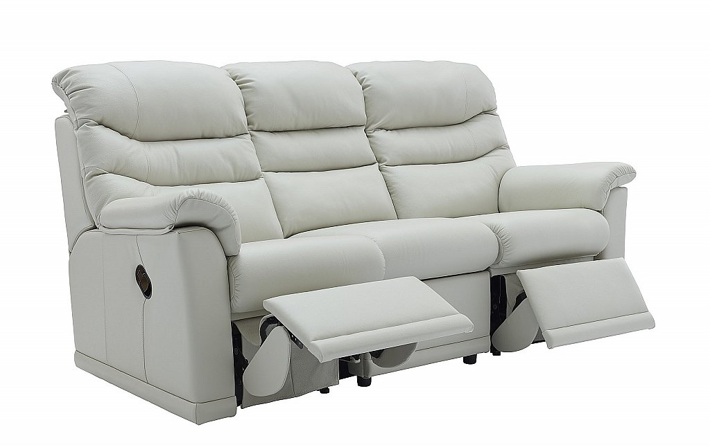 G Plan Upholstery Malvern 3 Seater Leather Recliner Sofa