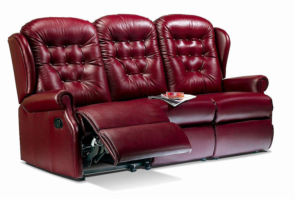 Sherborne Lynton 3 Seater Leather Recliner Sofa