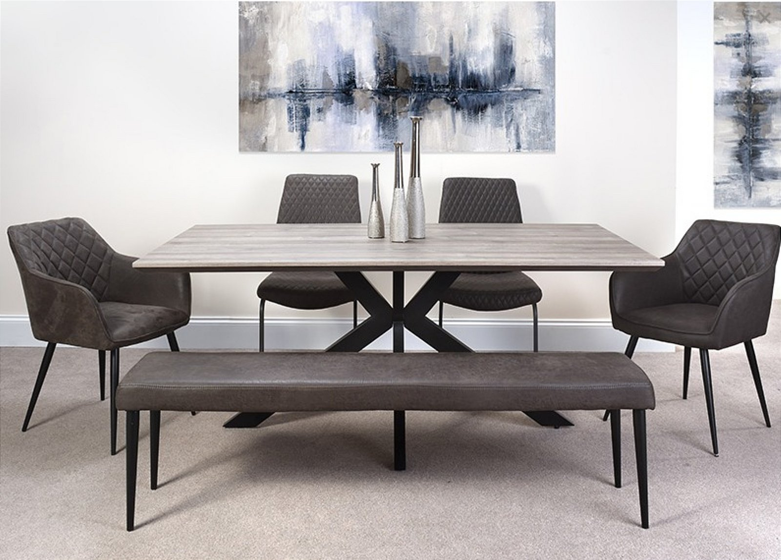 Furniture Link Manhattan Dining Table 180 Cm