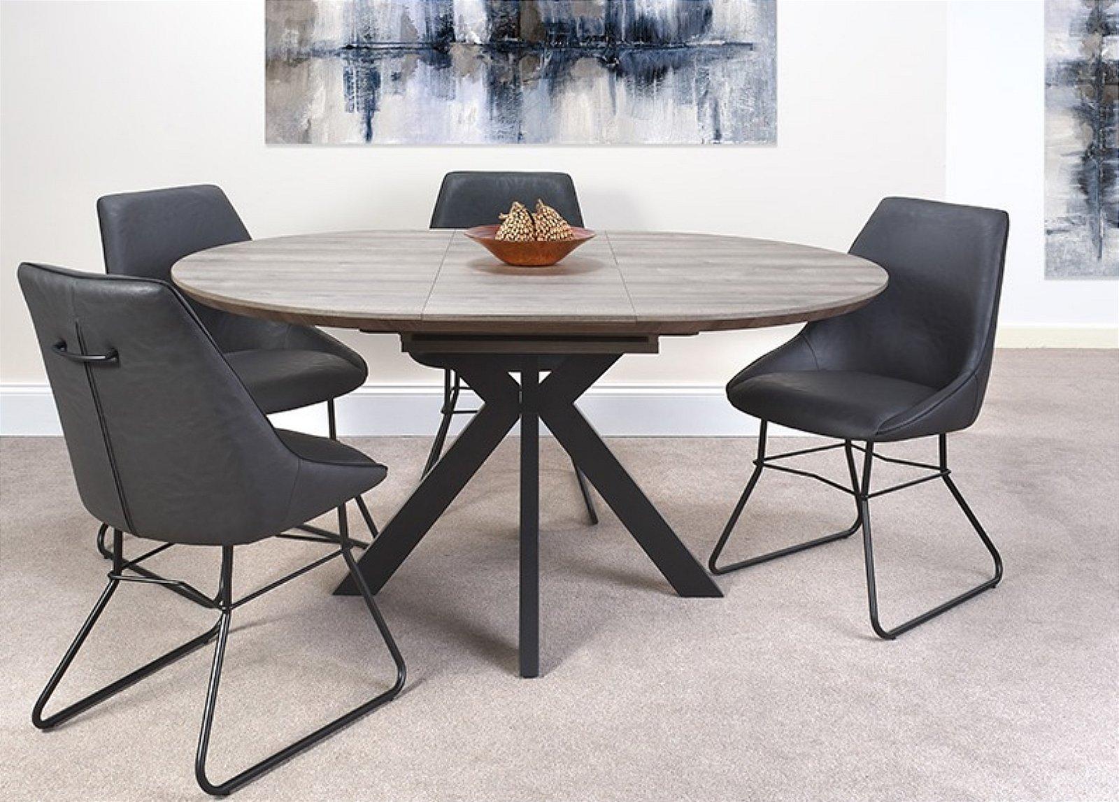 Furniture Link Manhattan Extending Round Dining Table 120 160 Cm