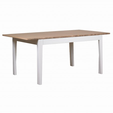 The Smith Collection - Geo Painted White Dining Table