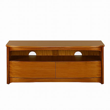 Nathan - Shades Teak Shaped TV Unit with Drawers