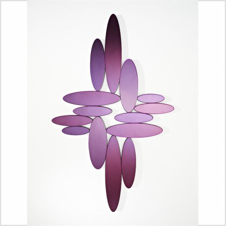 Deknudt Mirrors - Ovals Purple Mirror