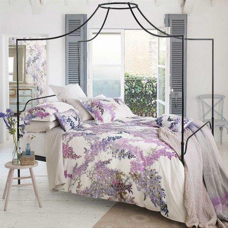 Bedeck - Sanderson Wisteria Falls Bedding In Lilac
