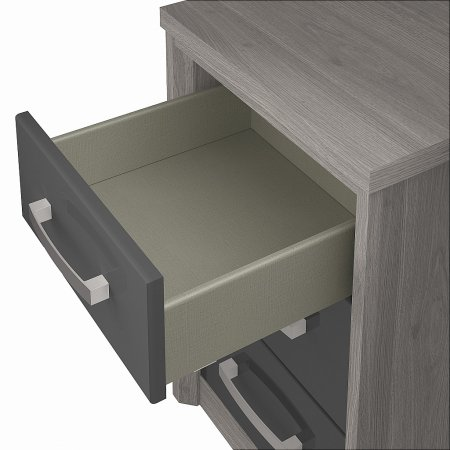 Kingstown - Cosmos 3 Drawer Chest Oak  plus Graphite