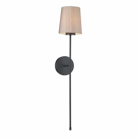David Hunt - Pigalle Single Wall Light with Silk Shade