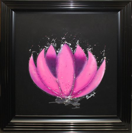 Liquid Art - Framed Originals Fuchsia Waterlily