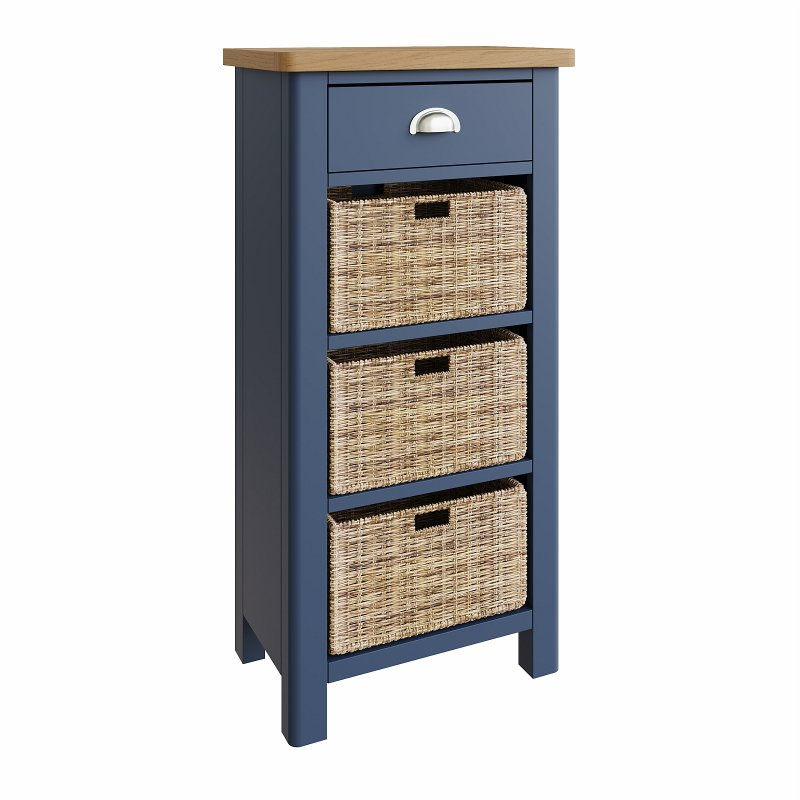 Kettle Interiors - RA 1 Drawer 3 Basket Unit